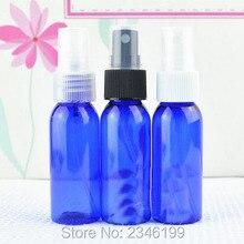 30CC 30 мл синий пластмассовый распылитель бутылка, косметический Тонер Упаковка спрей бутылка, круглый плечо бутылка синий цвет, 100 шт/партия