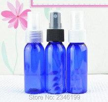 Botella de atomizador de plástico azul de 30ML, botella de Spray de embalaje de tóner cosmético, botella de hombro alrededor Color azul, 100 unids/lote