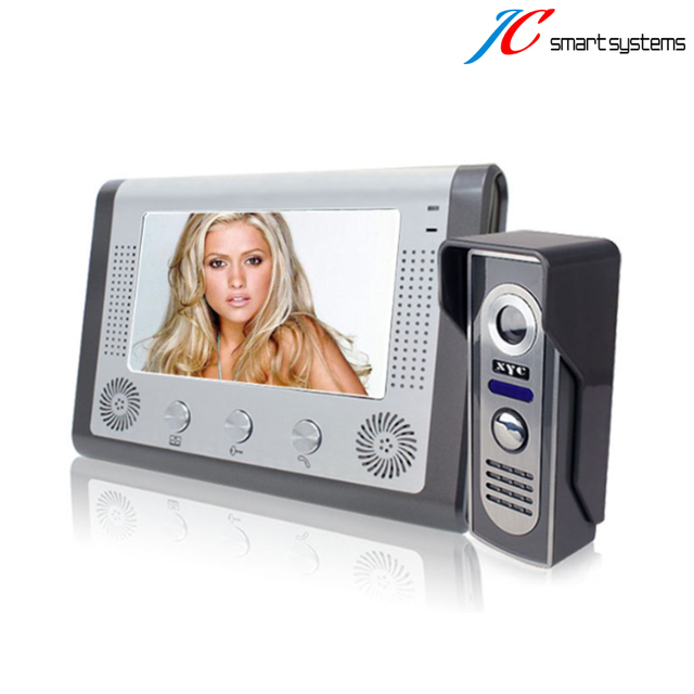 Wall mounting video door phone door inercom interphone visiophone Aluminium case CMOS camera IR infrared Monitor outside freely