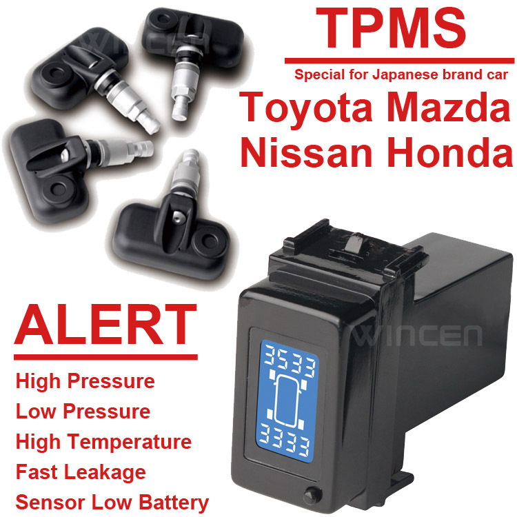 Wireless Tire Pressure Monitoring System TPMS Special for Honda Toyota Mazda Nissan Series with Internal Sensors wireless tire pressure monitoring system car tpms for toyota with 4pcs external sensor