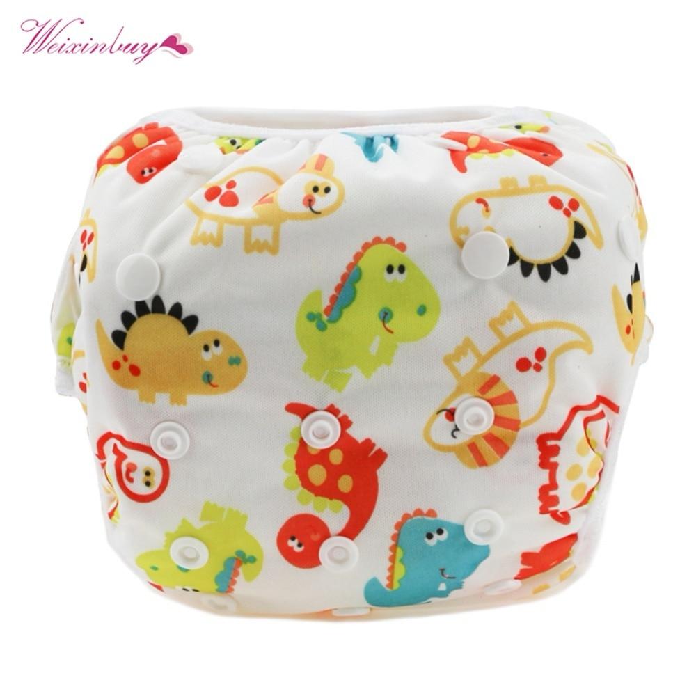 WEIXINBUY 27 Colors Unisex One Size Waterproof Adjustable Swim Diaper Pool Pant 10-40 lbs Swim Diaper Baby Reusable Washable