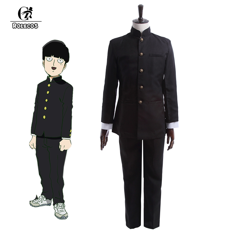 ROLECOS Anime Mob Psycho 100 Cosplay Costume Kageyama Shigeo Cosplay Costume Japanese School Boy Uniform Jacket Pants Full Set small grill cover