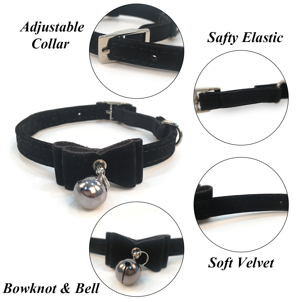 Cat Collar With Bell Puppy Collar For Cats Kitten Collars For Cats Dog Chihuahua Pet Cat Collars Lead Leashes Pet Supplies PQ007 (5)
