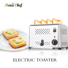ITOP 4 Slices Toaster Stainless Steel Commercial Bread Toaster Oven  Timer Automatic Breakfast Sandwich Machine Kitchen Tools