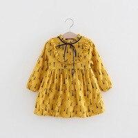 Girls Winter Dresses Cotton Turtleneck Princess Dress Long Sleeve Girl Dress Kids Clothing Red Blue Yellow