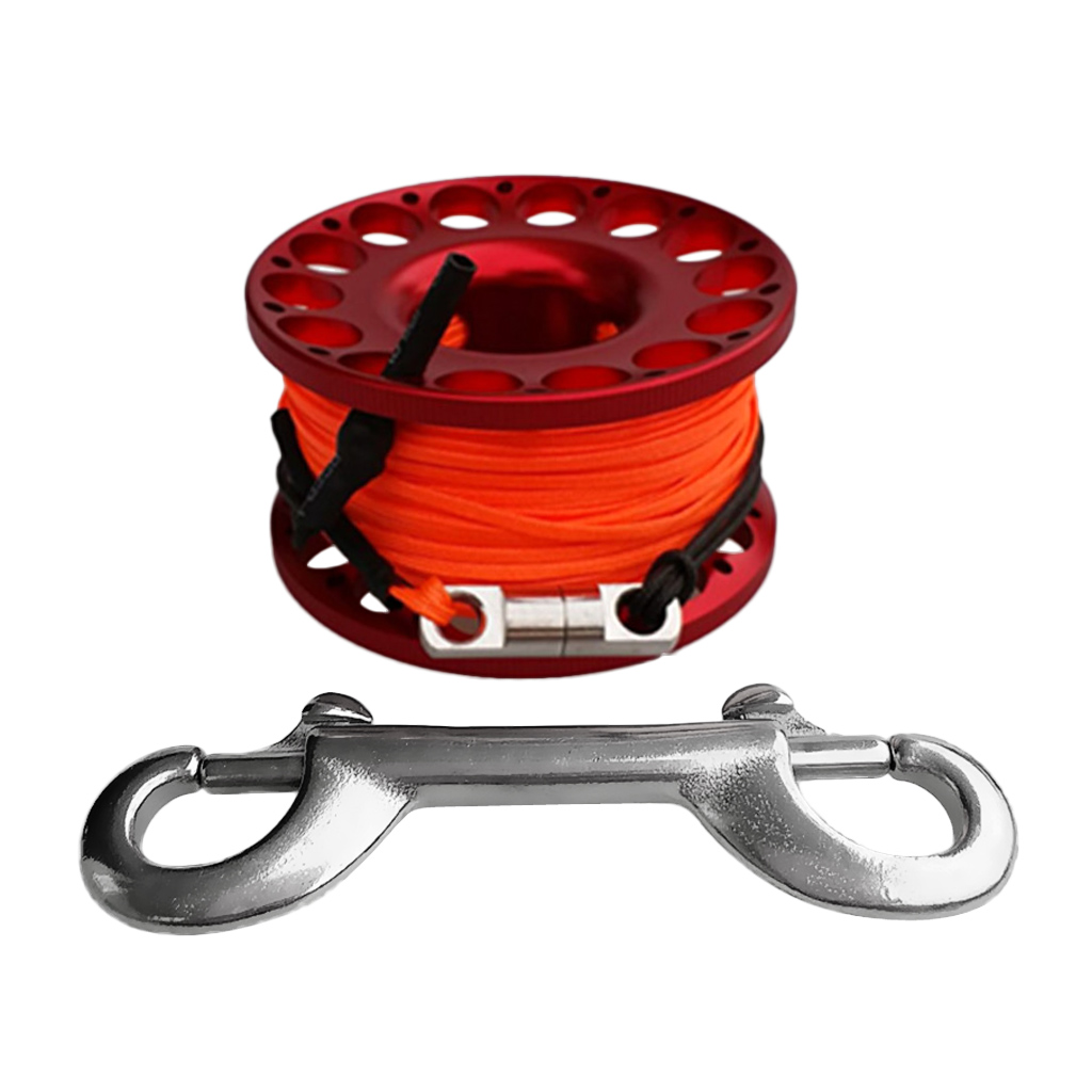 Aluminum Alloy Scuba Diving Reel Finger Spool, 30m Line Double End Bolt Clip Safety Underwater Dive Gear Equipment-in Pool & Accessories from Sports & Entertainment on AliExpress - 11.11_Double 11_Singles' Day 1