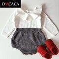 Confecção de malhas do bebê meninas 100% algodão romper Outfit Set 3-CA02