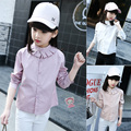 2017 Spring Girls Long Sleeve Cotton White Girl Blouses Child Cute Shirt Tops School Shirts Kids Girl Blouse 5 7 9 11 13 14 Year