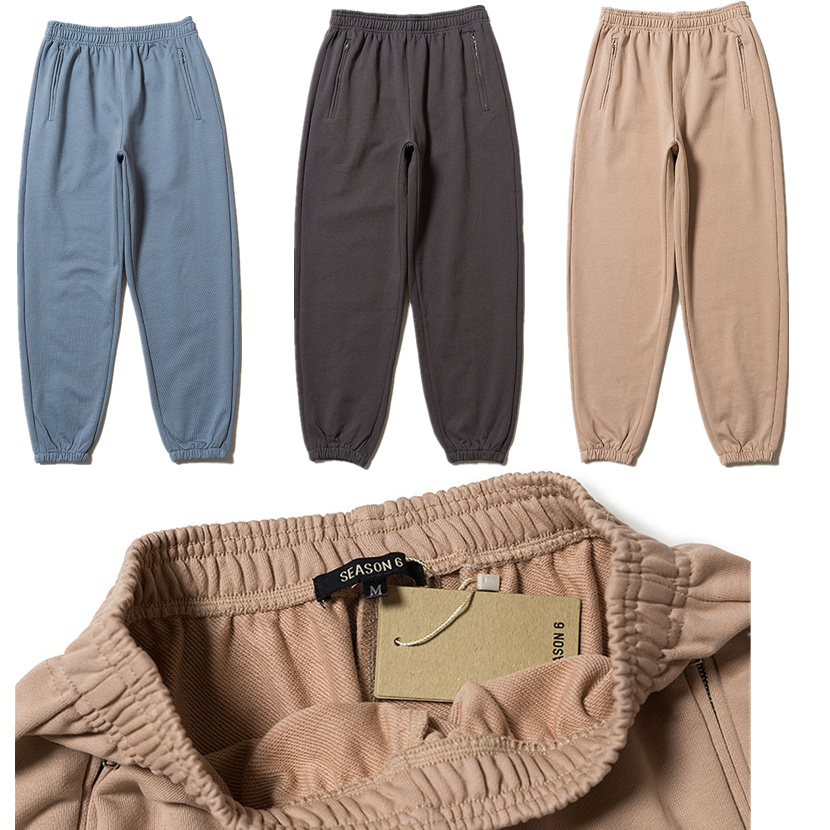 Kanye West Season 6 Sweatpants Men 1:1 High Quality Season6 Sweatpants Hip Hop Drawstring Sweat Pants Trousers Joggers