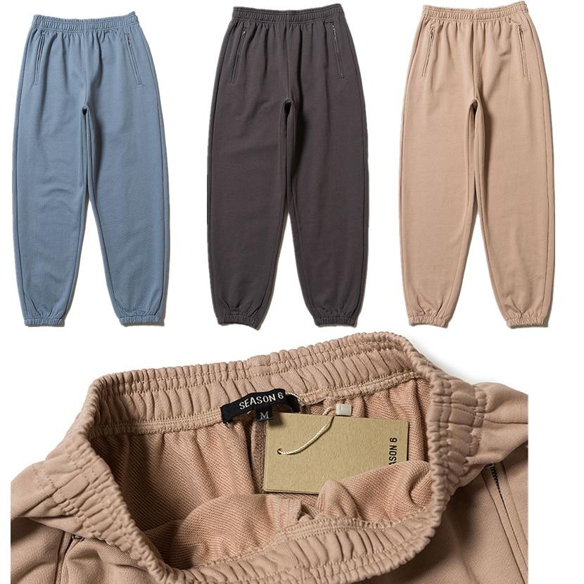 Kanye West Season 6 Sweatpants Men 1:1 High Quality Season6 Sweatpants Hip Hop Drawstring Sweat Pants Trousers Joggers