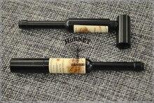 Wholesale 120pcs/lot Bottle Of Red Wine Shape Rasta Metal Weed Pipe Smoking Pipe