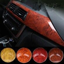 цены 40cm*100cm Glossy Bird Eyes Wood Grain PVC Waterproof Vinyl Film Car Body Protection Color Change Film Decal DIY Car-Styling