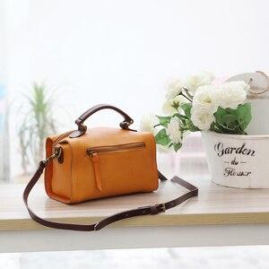 Image 2 - YIFANGZHE ขนาดเล็กผู้หญิงหนัง Messenger กระเป๋าสไตล์วินเทจแฟชั่น Cowhide ไหล่กระเป๋ากระเป๋าถือหนัง