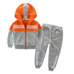 Image 2 - 어린이 의류 스포츠 정장 소년과 소녀 후드 Outwears 긴 소매 소년 의류 세트 캐주얼 Tracksuit
