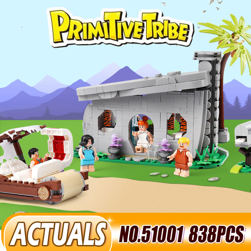 51001 The Flintstones Collectible Toys With 21316 Model Building Blocks Bricks Educational Toys Christmas Gifts