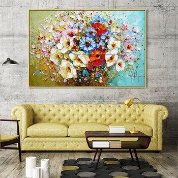 Картинка Холст Картина quadros Куадрос decoracion палитры ножи 3D текстура акрил цветок стены книги по искусству изображение для гостиная дома декоры