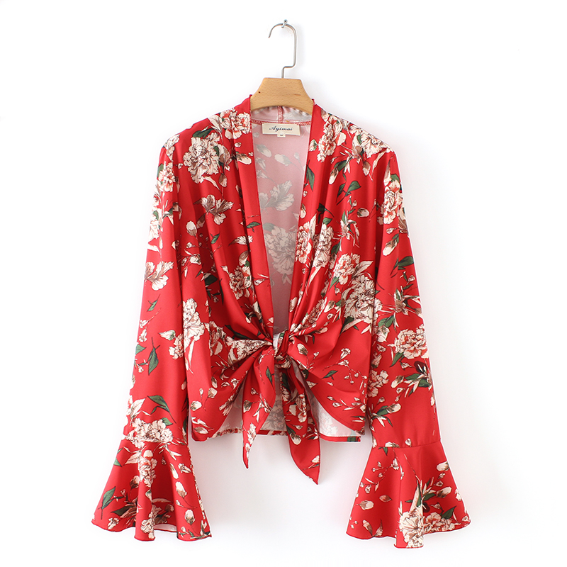 Aliexpresscom  Buy Women Vintage Sexy Knotted Red Flower -2050