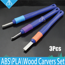 3PCS Wood Carvers set 3D Printer DIY Tool Kit,ABS and PLA Carving knife/graver for 3D Printer