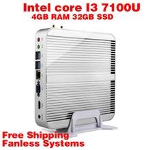 Mini PC Intel 7e Gen Kaby Lac Windows 10 i3 7100U 4GB RAM 32GB SSD 4 K HD Graphics 620 300 M Wifi HDMI TV Box Free Shipping usb