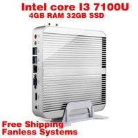 Mini PC Intel 7e Gen Kaby 7100U Lac Windows 10 i3 4 GB de RAM 32 GB SSD 4 K HD Graphics 620 300 M Wifi HDMI TV Box Frete Grátis usb