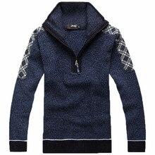 Versandkostenfrei warme winter pullover dick casual männer drehen- down-kragen strickwaren klassischen pullover 41