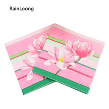 [Rainloong] guardanapo de papel floral flor para festas & festa fornecimento de tecido decoratio 33cm * 33cm 1 pacote (20 unidades/pacote) UF-39