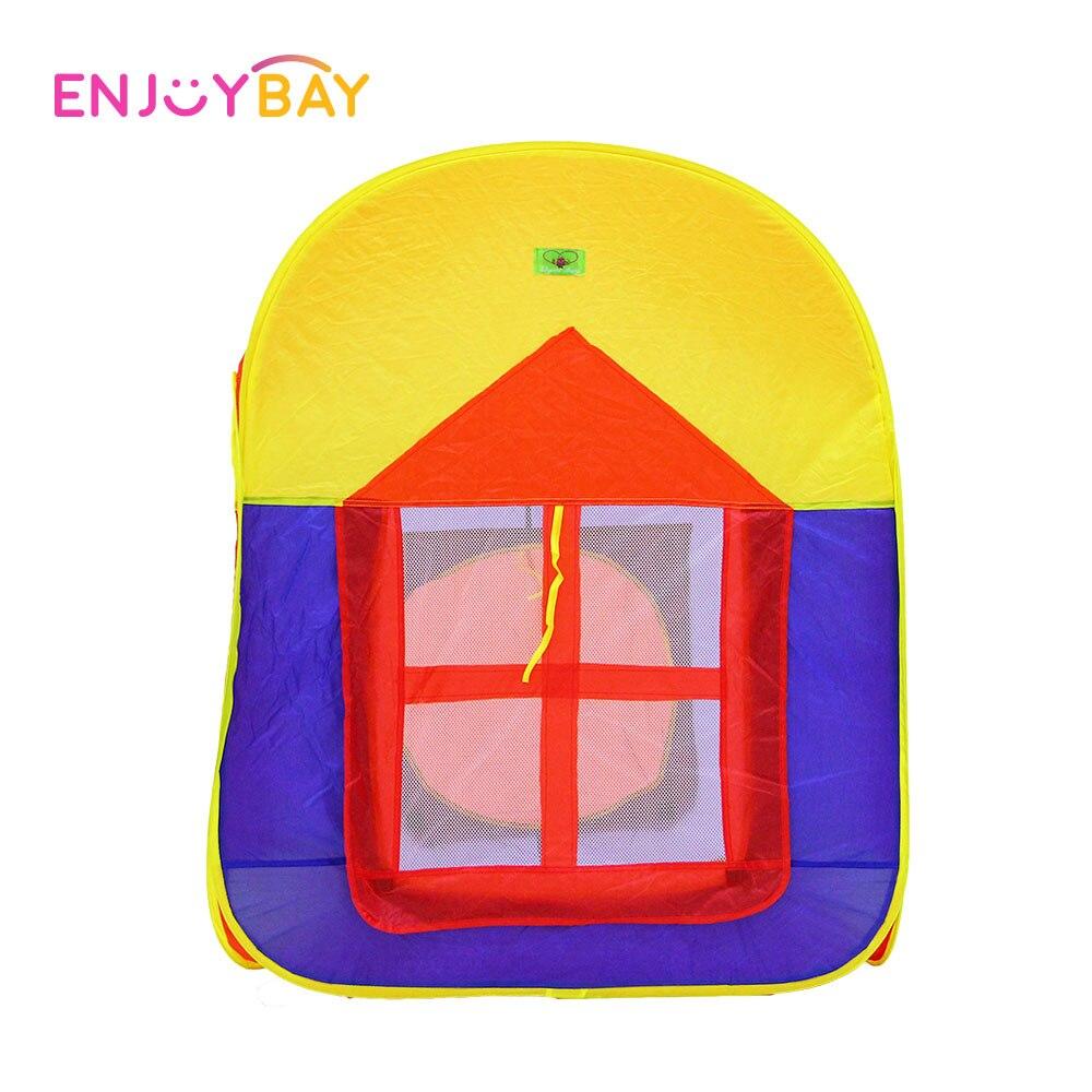 Enjoybay coloré pliable enfants tente jouer maison intérieure et extérieure facile pliage jeu maison Portable tente jouets pour enfants bébé