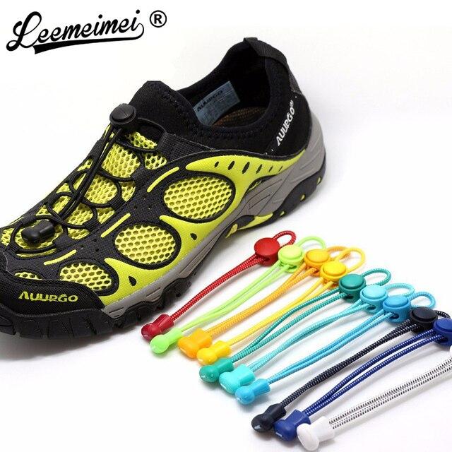 Stretching Verrouillage dentelle 23 couleurs une paire De Verrouillage Chaussures Lacets Élastiques Baskets Lacets Shoestrings de Course/Jogging/Triathlon