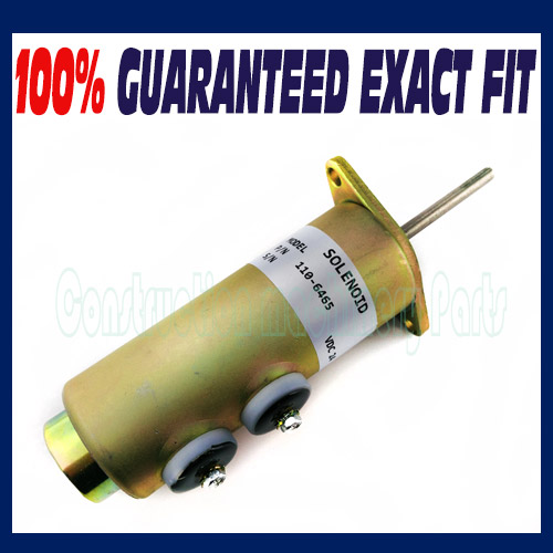 Fuel Shut Off Solenoid Valve 6T-4122 for Caterpillar 110-6465 24V - Free shipping fuel shut off solenoid valve coil 3964624 fits excavator engine
