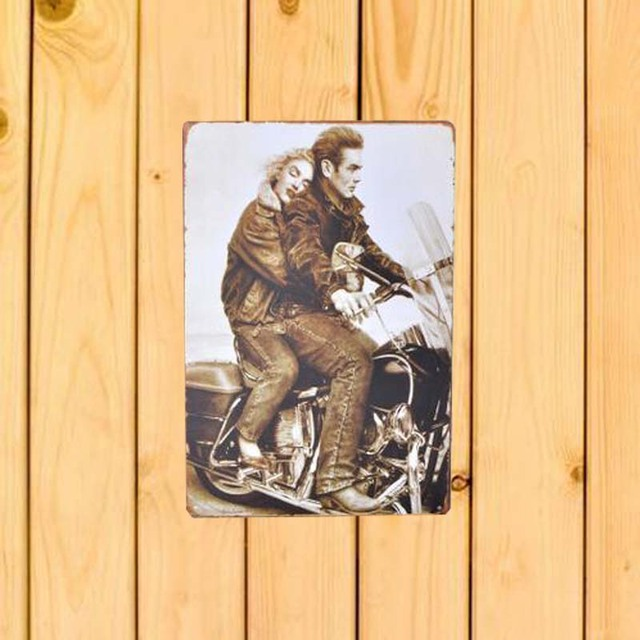 NEW motorcycle Lover wall art craft Motor vintage metal tin signs ...