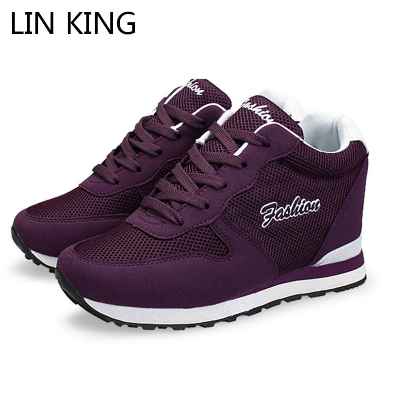 LIN KING Women Casual Platform Swing Shoes Spring Autumn Fashion Low Top Camouflage Shoes Comfortable Heighten Elevator Shoes