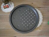 1 ST bakken 14 inch ronde aluminium pizza lade niet stok deep pizza gerecht pizza pie cake pan bakvorm kan in oven J0508