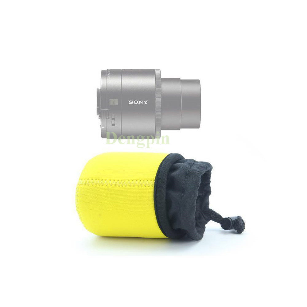 Nice Looking Yellow Neoprene Soft Inner Protective Camera Lens Bag Sony Qx10 Case Pouch For Dsc In Video Bags From Consumer Electronics On