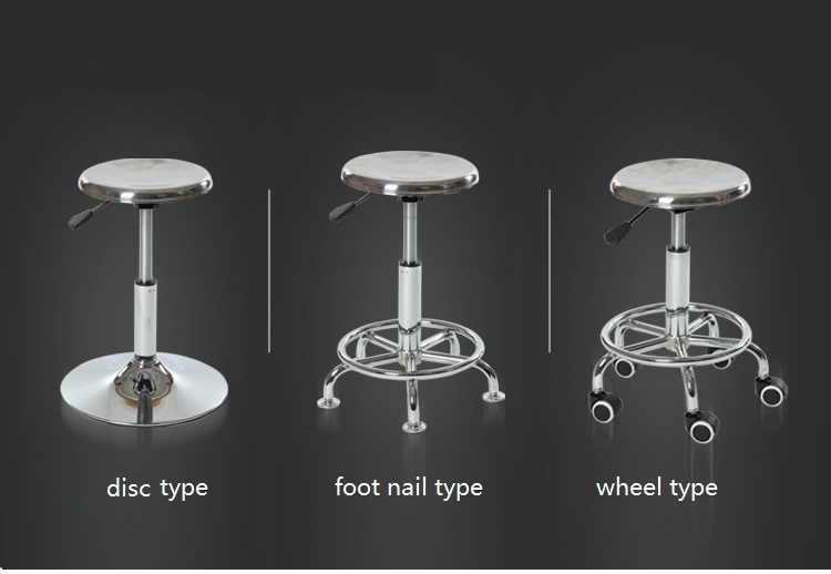 Metal barber stool retail Factory production line working lift stool wholesale Bakery kitchen stool free shipping acidic protease production in air lift bioreactor by rhizopus arrhizus
