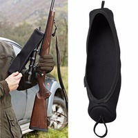 Tourbon Hunting Gun Accessories Durable Soft Black Neoprene Rifle Scope Guard Cover Large Size 14 7