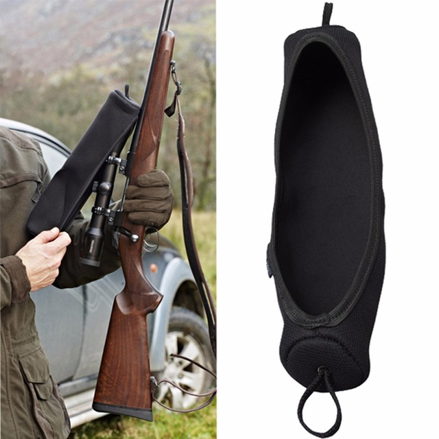 Tourbon Hunting Gun Accessories Durable Rifle Scope Guard Cover Elastic Neoprene Waterproof Protector Large Size 34.5cm