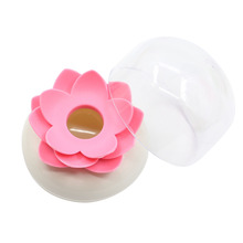 1 Pc Lotus Home Decor Toothpick Cotton Bud Swab Holder Storage Box 4 Colors  7M7Q
