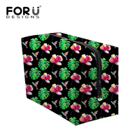 Korean Folwer Makeup Bags For Women Vintage Colorful Girls Cosmetic Bag Make Up Case Students Portable
