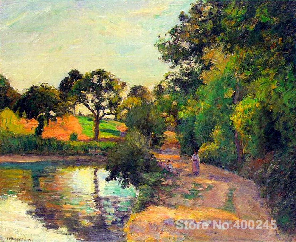Famous Arts Reproduction Bridge At Montfoucault Camille Pissarro Oil Paintings High Quality Hand Painted In Painting Calligraphy From Home Garden On