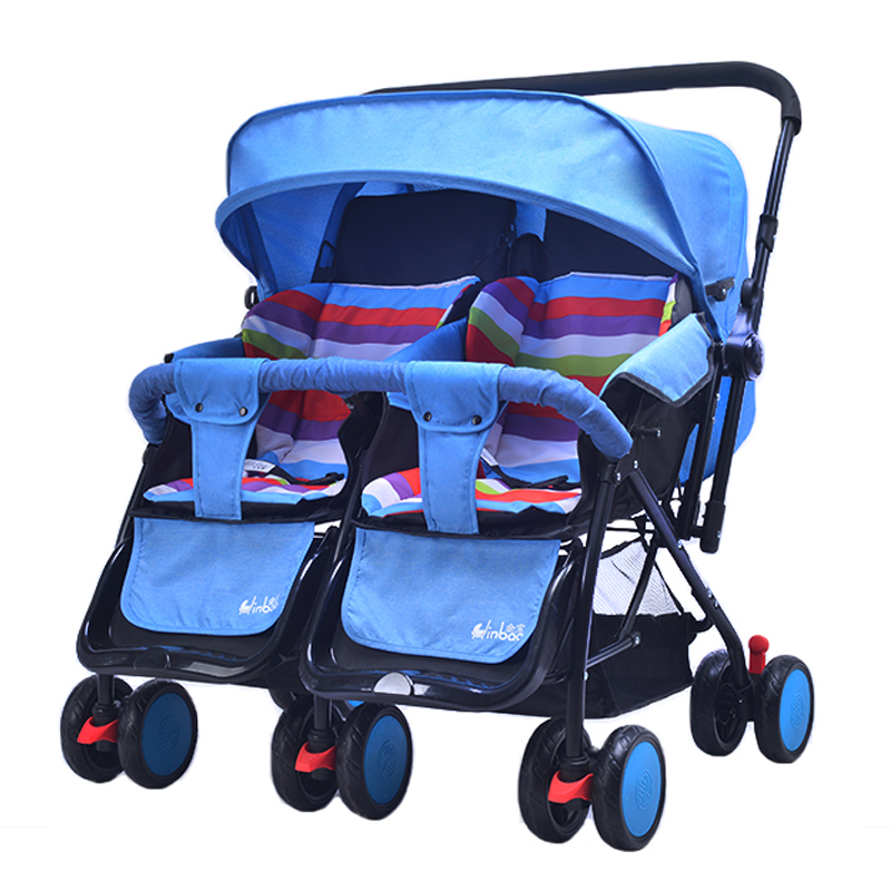 2018 Twin Stroller Baby Carriage For Twins Prams For Newborns summer winter dual-use Pram Twins Lightweight Double Strollers big space twins prams for children 0 4 years baby carrinho for twin with all cover sun canopy oxford fabric twin baby carrier