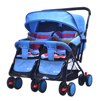 2018 Twin Stroller Baby Carriage For Twins Prams For Newborns summer winter dual use Pram Twins Lightweight Double Strollers