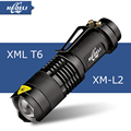 Mini cree xm-l t6 flashlight powerful Zoomable waterproof led torch rechargeable 18650 lanterna camping flash light  3000 lumen