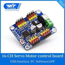 WitMotion 16 kanal Bluetooth PWM Servo sürücü denetleyicisi devre kartı modülü PCB için direksiyon dişlisi SG90 MG995 arduino için