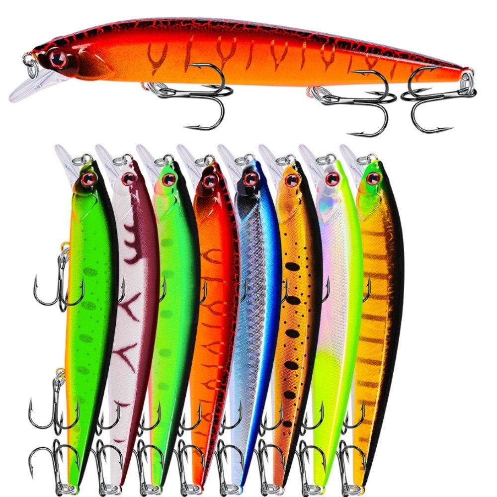 1PCS 14cm 18.5g New Minnow Fishing Lure Bass Trolling Artificial Hard Bait Crankbait Wobblers 3D Eyes For Fishing Carp Pesca