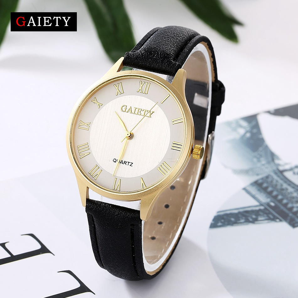 Gaiety Luxury Watches Women Fashion Gold Leather Bracelet Wristwatches Ladies Dress Vintage Clock Casual Quartz Watch Gift G022 foxweld varteg 190