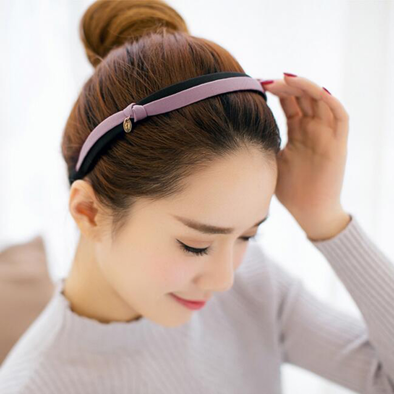 2017 New OL Hairbands Bowknot Korean Style Girls' Women's Headwear Hairholder Cute Double Layers Vintage Beauty Hair Accessories