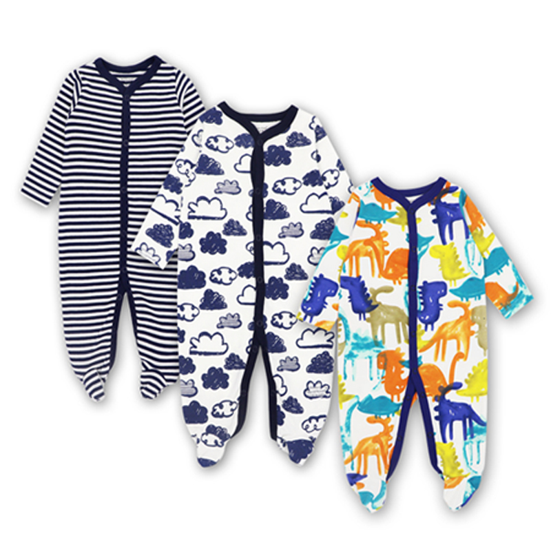 3Pieces/lot Spring Autumn Baby Rompers Cotton100% Long Sleeve Babies Clothes Infant Tights Newborn Baby Jumpsuits 100% cotton long sleeve baby rompers 3 pieces lot spring autumn newborn bebe jumpsuit infant boy girl cartoon clothes tops