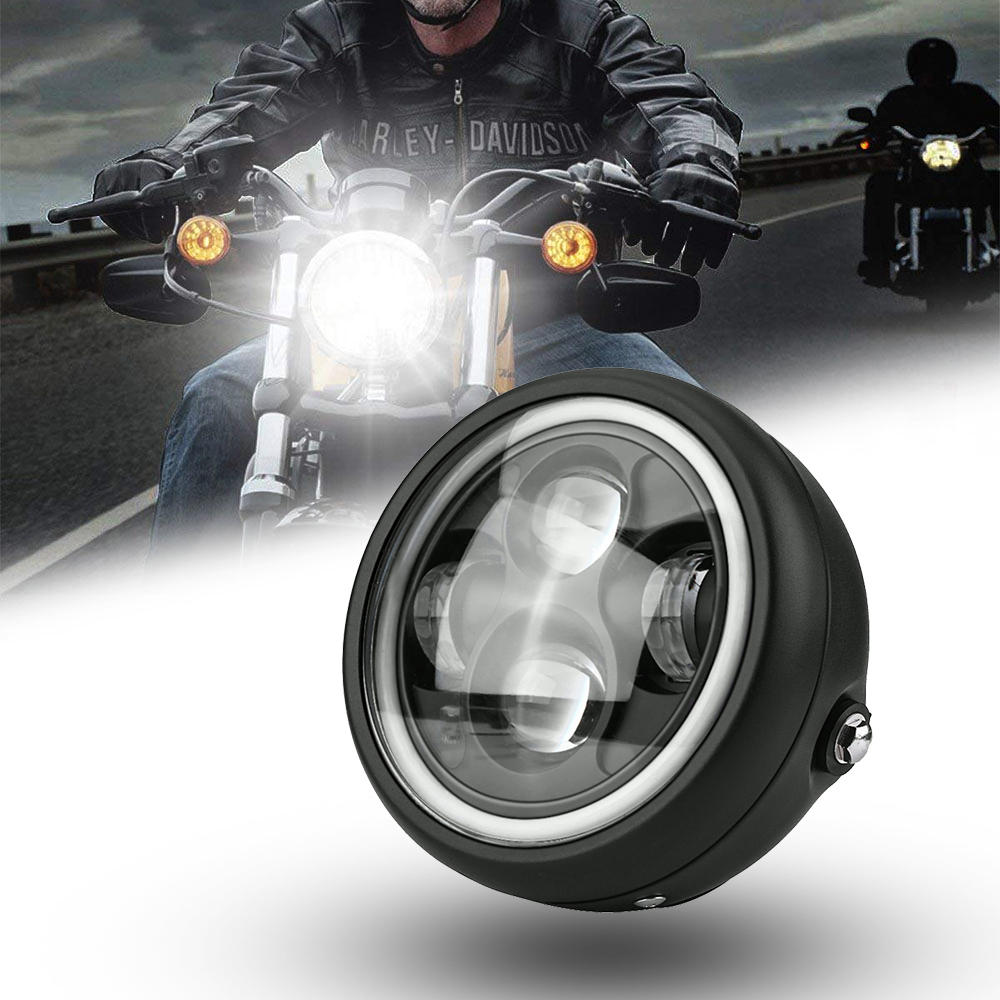 5.75 inch motorcycle LED headlight Hi Lo beam light moto bulb 6000K 45W super bright front headlight motor headlamp for Yamaha джинсы absolut joy джинсы зауженные