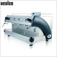 Xeoleo Commercial Semi Automatic Coffee machine Three nozzle Stainless steel Coffee maker Professional Coffee Espresso machine