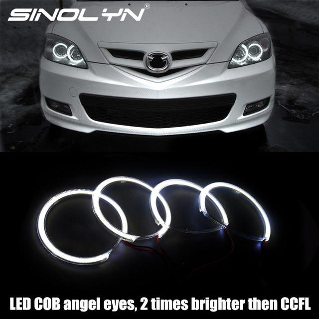 For Mazda 3 Headlight Cob Angel Eyes Led Lights Halo Rings Retrofit Tuning Diy Kit White Mazda3 2002 2008 Brighter Than Ccfl